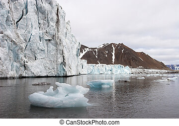 Arctic glacier landscape