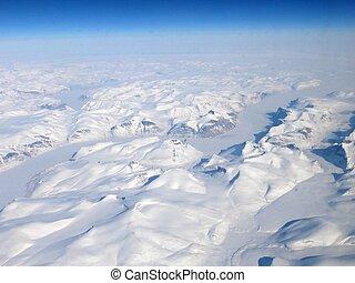 Arctic glaciers and mountains landscape