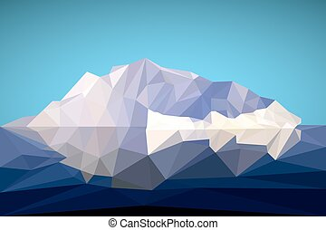 Arctic iceberg in the polygonal style. Vector illustration