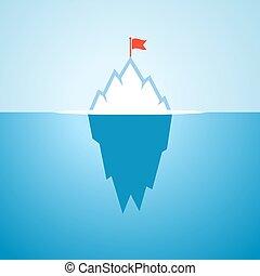 Arctic iceberg vector cartoon