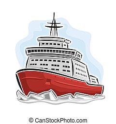 Arctic icebreaker - Vector illustration of logo for arctic...