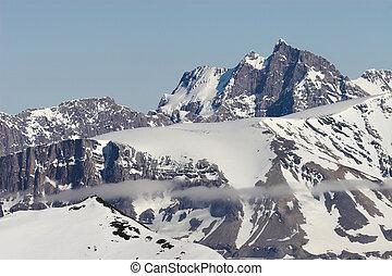 Arctic landscape - snowy mountains