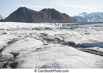 Arctic landscape with glaciers and mountains