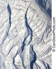 Arctic mountains with glaciers