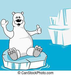 Arctic - Polar bear on an ice floe