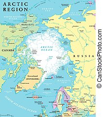Arctic Region Political Map