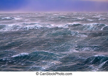 storm on Kara Sea summer