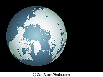 Arctic (Vector). Accurate map of the arctic. Mapped onto a...