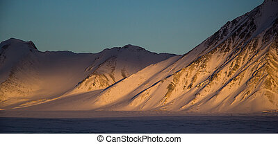 Arctic views in south Spitsbergen.