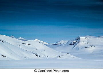 Arctic views in south Spitsbergen.