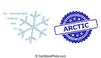 arctique, grunge, recursive, icône, vent, timbre, gelée, collage