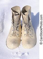 arctique, hiver, survie, bottes