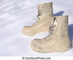 arctique, survie, bottes, hiver