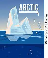 arctique, vecteur, plat, illustration