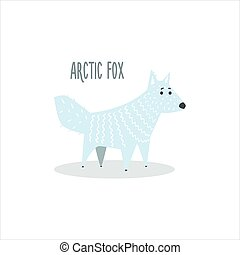 arctique, vecteur, renard, illustration