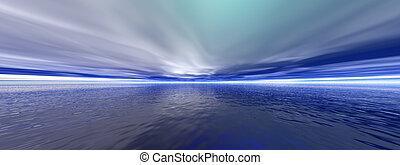 Arcytic ocean - 3D render arytic ocean