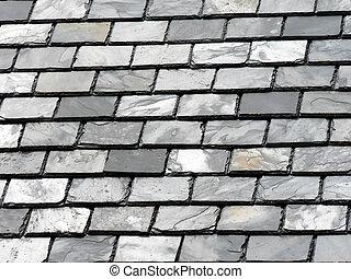 ardósia, azulejos, telhado