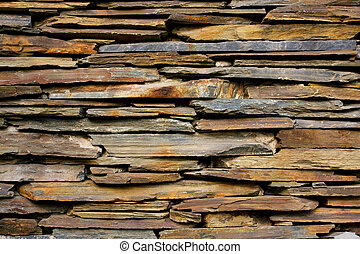 ardósia, parede pedra, textura