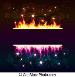 ardendo, astratto, fondo