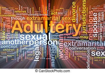 ardendo, concetto, adulterio, fondo