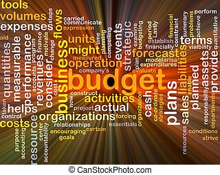 ardendo, concetto, budget, fondo