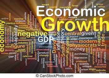 ardendo, concetto, economico, fondo, crescita
