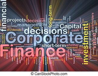 ardendo, concetto, finanza corporativa, fondo