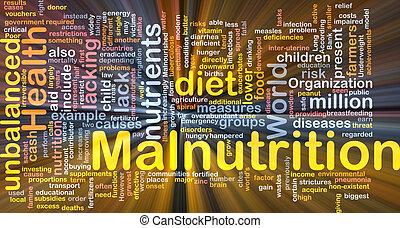 ardendo, concetto, malnutrition, fondo