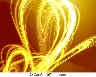 ardendo, ondulato, colori