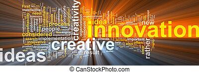 ardendo, parola, nuvola, innovazione