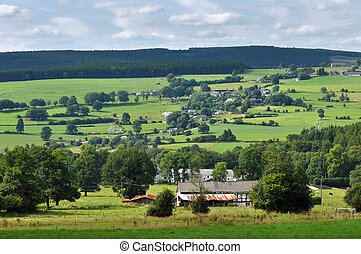 Ardennes Landscape near Malmedy in the province of Liege, ...