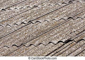 ardesia, vecchio, tetto
