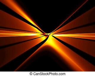 ardiente, infinito, rojo, horizonte, de, extensión