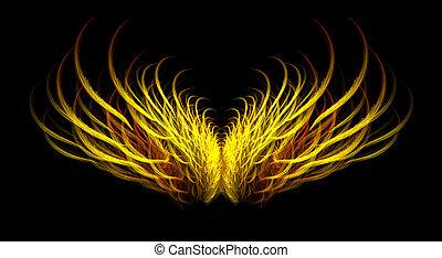 ardiente, mítico, alas ángel
