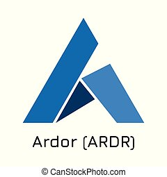Ardor (ARDR). Vector illustration crypto coin ico