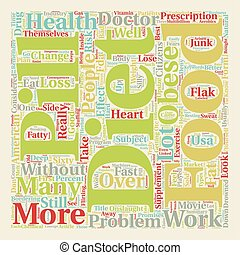 Are Diet Pills The Answer text background wordcloud concept