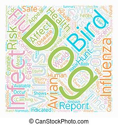 Are Dogs Safe From the Bird Flu text background wordcloud concept