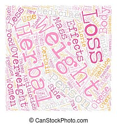 Are Herbal Weight Loss Pills The Cure text background wordcloud concept
