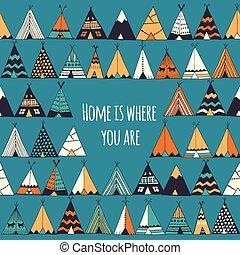 are., hogar, usted, dónde