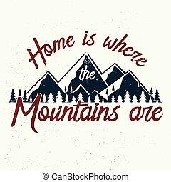 are., montagnes, où, maison
