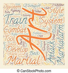 Are the Martial Arts still under development text background wordcloud concept