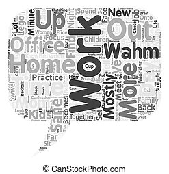 Are You A Mostly Sane WAHM Too text background wordcloud concept