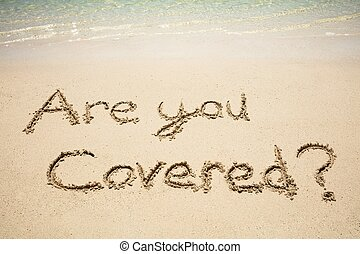 Are You Covered Question On The Beach