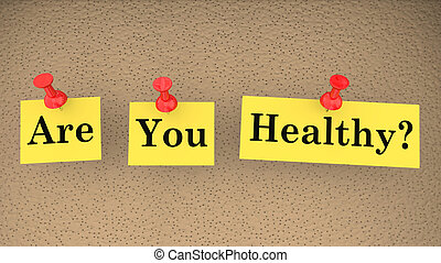 Are You Healthy Fitness Diet Condition Exam Test 3d Illustration