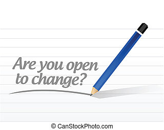 are you open to change question illustration