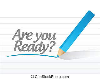are you ready question message illustration