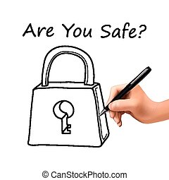 are you safe words with lock icon