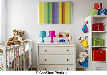 Are you sleepy after day full of play? - Baby room with a ...