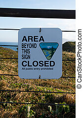 Area Closed Warning Sign