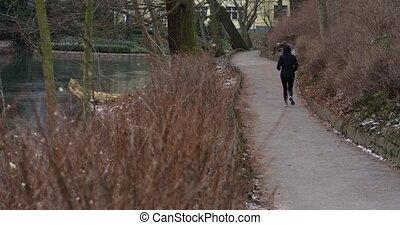 area., femme, course, elle, sain, résidentiel, quotidiennement, actif, exercice